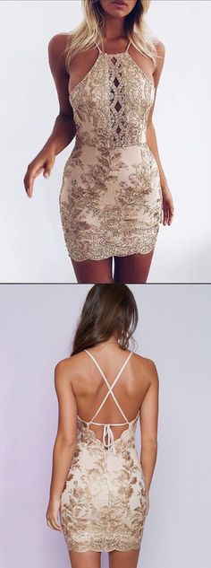 cocktail dresses, halter party dresses, sexy sheath short party dresses, cocktail dresses with beading