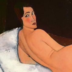 """colin-vian:  """" A. Modigliani, Nu couché, détail, 1917.  """""""