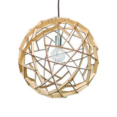 Fiorentino Geogro Timber Veneer Pendant Light