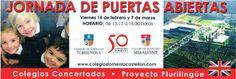Colegio Miralvent: Jornada de Puertas Abiertas: Viernes 14 de febrero y 7 de marzo. Horario de 15:15-16:30