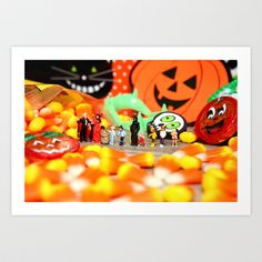 Death Takes His Kids Trick or Treating Art Print by Lon Casler Bixby - $16.00 – Prints, greeting cards, t-shirts, cell phone cases, & more.