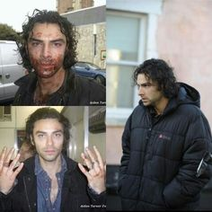 Aidan Turner behind the scenes of Being Human uk.