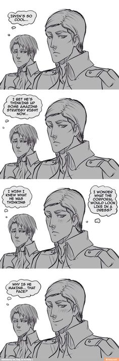 Okay....How short 'a' dress? I mean, Erwin could be having really creepy thoughts, right now.
