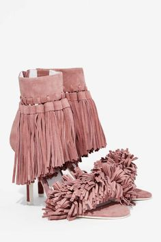 Jeffrey Campbell Inaba Fringe Suede Heel - Heels | Sale: Newly Added | Sale: 40% Off | Heels | $51 and up