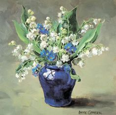 Lily of the Valley and Forget-me-nots - Blank | Mill House Fine Art – Publishers of Anne Cotterill Flower Art
