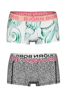 Bjorn Borg boxer voor meisjes Shell 2-pack | Bjorn Borg mini bpxer for girl Shell 2-pack #underwear #girl #boxer #panties #hipster #kinderondergoed #meisje