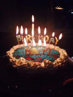 Colourful birthday cake