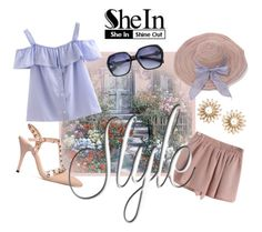 """""""Shein Blue Striped Shirt - Contest with a Prize!"""" by teez-biz-nez ❤ liked on Polyvore"""