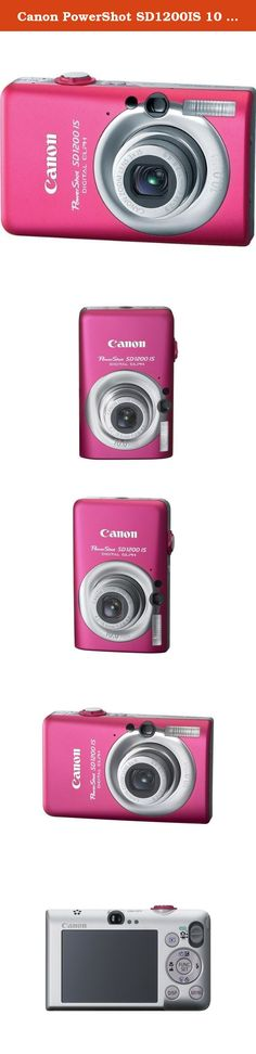 Canon PowerShot SD1200IS 10 MP Digital Camera with 3x Optical Image Stabilized Zoom and 2.5-inch LCD (Pink/Red). When a camera puts a smile on your face the moment you hold it, imagine how great you ll feel when you see your first pictures! The PowerShot SD1200 IS Digital ELPH has everything going for it - exuberant color, the sculptured style of Canon s famed ELPH series - and the innovative know-how that takes you to a whole new level of picture-taking accomplishment. Fun, smart and a...
