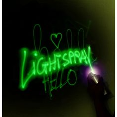 Glow in the dark can be sprayed on balloons.