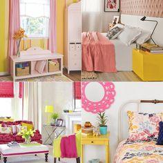 E se o seu quarto for amarelo e rosa?