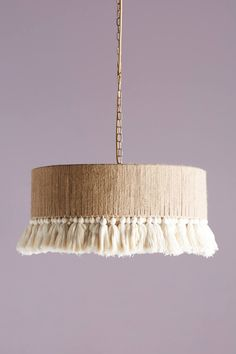 Anthropologie's Top Trends for Spring - Anthropologie Rara Pendant (possible diy inspiration for our dining room pendant light…? Luminaria Diy, Diy Luminaire, Diy Inspiration, Fabric Blinds, Diy Chandelier, Chandelier Shades, Spring Home, Spring Style, Lampshades