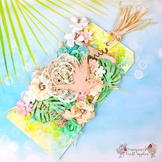 (Ad) I have a super summery mixed media tag to share today using the July kit and large flower mix. You can check out how… Large Flowers, Craft Supplies, Handmade Gifts, Mixed Media, How Are You Feeling, Paper Crafts, Kit, Make It Yourself, Crafty