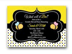 Bumble Bee Baby Shower Invitation. $10.00, via Etsy.