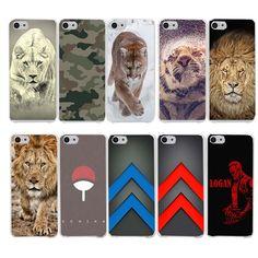 cute Snow animal lion tiger Hard Case Cover for iPhone 7 7 Plus 6 6S Plus 5 5S SE 5C 4S Case Cover