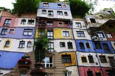 The visually entrancing Hundertwasser House in Vienna, and other unusual city sites.