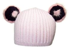 Our children's beanie collection is definitely one of a kind! We use SUPER SOFT Italian cashmere beanies and adorn them with genuine fur ears. Toddlers often put up a fight about keeping their hats on. Cashmere Beanie, Pink Panda, Fur, Children, Hats, Collection, Fashion, Boys, Moda