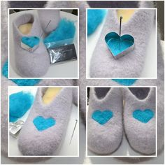 Best Fashion Advice of All Time – Best Fashion Advice of All Time Slipper Socks, Slippers, Shibori, Knitting Projects, Knitting Patterns, Felt Shoes, Felt Diy, Felt Hearts, Needle Felting