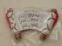 Wood Painted Jingle Bells Christmas Tree by baublesandblingforu, $6.00