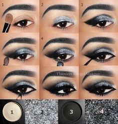 Trendy Makeup Bronze Smokey Eye Tutorial - Prom Makeup Looks Eye Makeup Steps, Smokey Eye Makeup, Eyebrow Makeup, Eyeshadow Makeup, Matte Eyeshadow, Silver Smokey Eye, Eyeshadow Palette, Younique Eyeshadow, Orange Eyeshadow