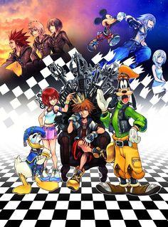 Kingdom Hearts - Beautiful Art  Huge Poster  22 x 34 inch ( Fast Shipping ) 0195