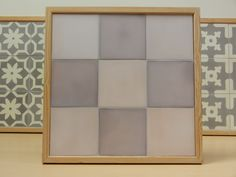 Handmade encaustic tiles, 15x15 cm format. 1521 Purple / 1522 Purple Grey. Brochure available.