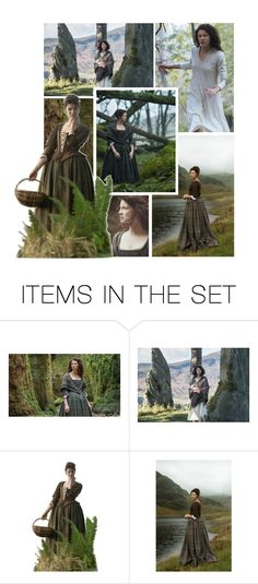 """""""Claire - Outlander"""" by onemonday ❤ liked on Polyvore featuring art, Collage, TV, books, Outlander and clairefraser"""