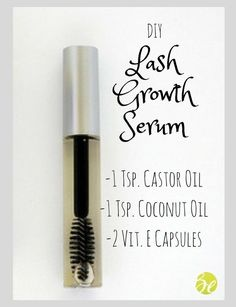 DIY Lash Growth Serum #lashesgrowth