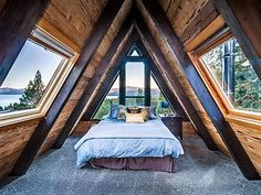 Decorative Rocks Ideas : Amazing A-frame cabin with hot tub 2 fireplaces & more. Lakeview Tree House is like the Tahoe City vacation home you dream about but its real and waitin