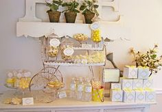 Vintage Daisies and Dots Dessert Table