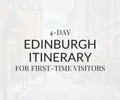 4-day Edinburgh itinerary for first-time visitors. This travel guide includes the top things to do in Edinburgh, Scotland on a budget.