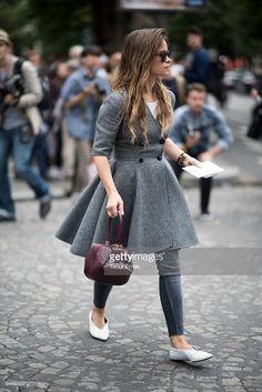 News Photo : Miroslava Duma seen in the streets of Paris...