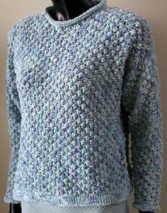 Cotton Chenille Textured Sweatshirt - free knit pattern from Crystal Palace Yarns