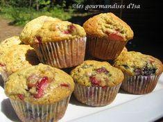 Les gourmandises d'Isa: MUFFINS AUX 3 FRUITS
