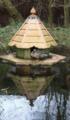 duck house Duck Houses The Mallard Backyard Ducks, Chickens Backyard, Backyard Farming, Duck Island, Duck Coop, Farm Pond, Raising Ducks, Duck House, Mini Farm