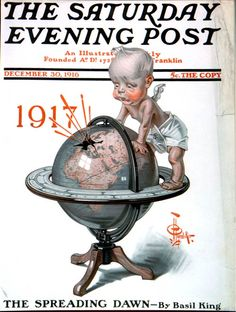 Global War  JC Leyendecker   December 30, 1916  Saturday Evening Post