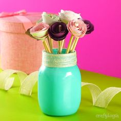 Diy Clay, Clay Crafts, Beste Mama, Paper Crafts Origami, Diy Home Crafts, Diy Birthday, Craft Gifts, Diy For Kids, Flower Pots