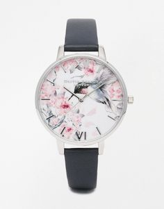 Image 1 of Olivia Burton Painterly Print Silver Watch