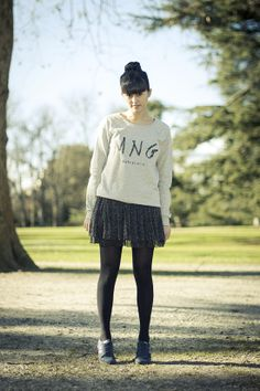 Skirt and Sneakers !  Plus de look ici : http://influences-shibuyette.fr/jupe-pimkie-tulle/