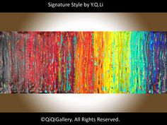 72 Oil Painting abstract Impasto Palette Knife by QiQiGallery