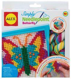 ALEX Toys - Craft, Simply Needlepoint Butterfly Kit, 395BN