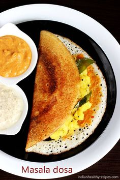 Masala dosa is a popular south Indian breakfast. Learn how to make masala dosa as good as in restaurants & tiffin centers in South India. Masala Dosa Recipe, Idli Recipe, Indian Snacks, Indian Food Recipes, Crepes, Comida India, Tasty Vegetarian Recipes, Lentil Recipes, Vegan Vegetarian