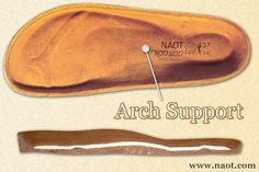 Arch Support - Enables the weight of the body to be correctly distributed and reduces pressure generated by the spinal column and joints. | #Naot shoes are available at www.TheShoeMart.com #TheShoeMart.