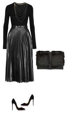 """Untitled #103"" by thabile-zungu on Polyvore featuring Christian Louboutin, Donna Karan, Topshop, Sam Edelman and Wet Seal"