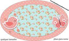 Molde Placa Jardim Encantado Vintage Floral - Kit Completo com molduras para convites, rótulos para guloseimas, lembrancinhas e imagens!