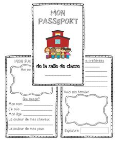 This file includes a back to school All About Me activity using the format of a Passport. The passport is 4 pages (2 full pages split in half) and is a great way for students to share a little bit about themselves, including a portrait of themselves, some of their favourite things, and a picture of their family.