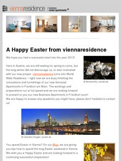 Happy Easter from viennaresidence Long Winter, Luxury Apartments, Happy Easter, Mad, Join, In This Moment, Check, Happy Easter Day, Apartments