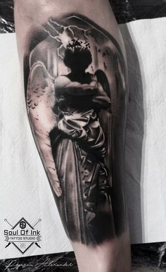 Made by Popescu Alexander at Soul of ink Copenhagen #realisticangel #tattoo #tattooed #tattoos
