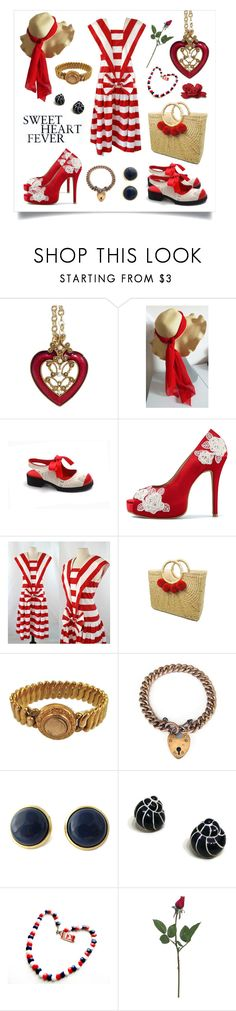 Sweetheart Fever by bunnyfindsvintage on Polyvore featuring INDIE HAIR and vintage