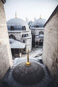 View from Hagia Sophia to Sultanahmet Camii, Istanbul